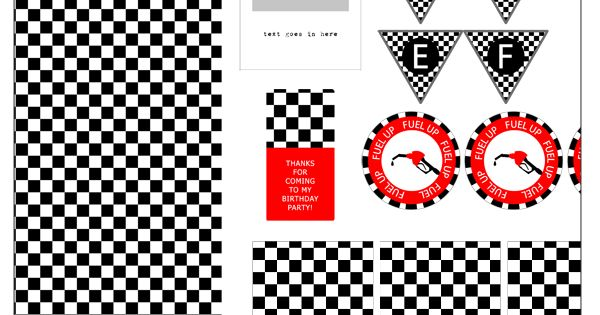 Free Printable Race Car Party For Tom Parties