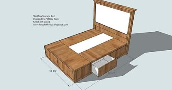 Classic Storage Bed Queen Diy, Build A Queen Bed Frame With Storage