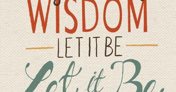 Beatles lyrics | Hand lettering by Katey Poteet, via Behance - Let