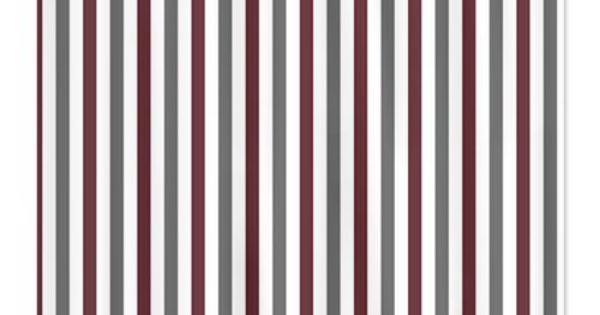 CafePress Gray and Burgundy Stripes Shower Curtain