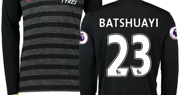 ... michy batshuayi chelsea adidas 2016 17 away replica patch long sleeve  jersey black products pinteres ... 19d297b7e