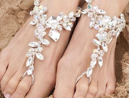 "Bejeweled Beach Wedding ""Shoes"". Love this for a destination wedding wedding shoes"