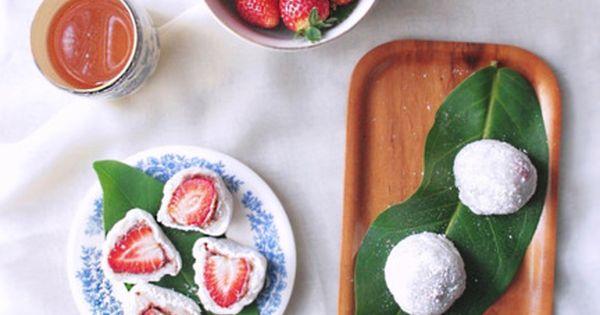Ichigu Daifuku (mochi stuffed with various fruits...ymmm strawberry)