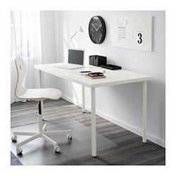 LINNMON ADILS Table white 59x29 12