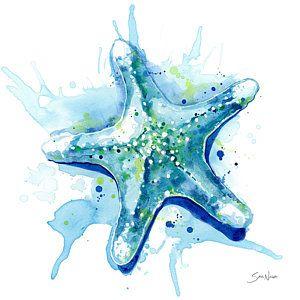 Fish Underwater Sea Life Ocean Painting Starfish Waters Ii By