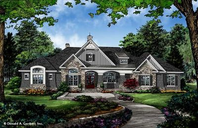 House Plan The Chaucer Ranch House Plans Craftsman House Plans New House Plans