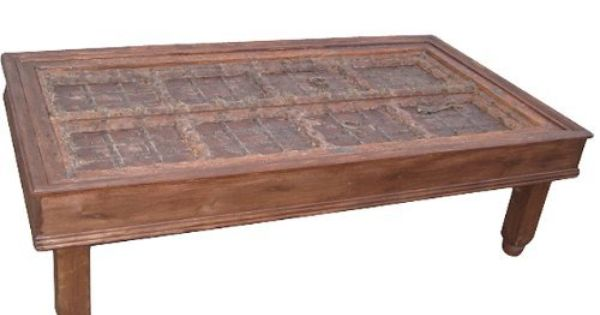 Old Door Coffee Table Indian Furniture Rustic Wooden Hand Carved Teak Table From Jaipur India 67