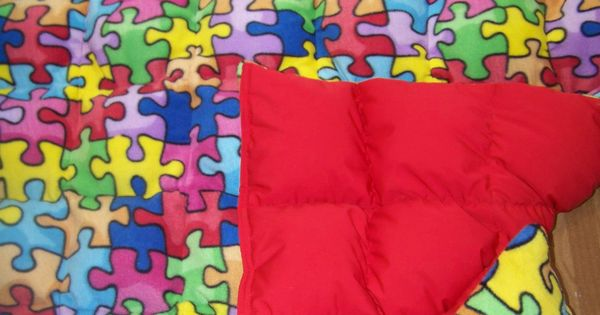 8 Pd Autism Awareness Puzzle Print Fleece Cotton Weighted