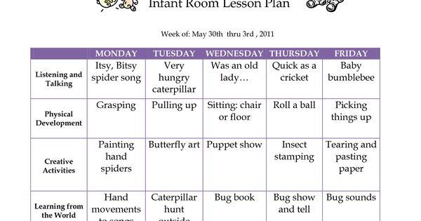 Creative Curriculum Blank Lesson Plan | JUNE 2011 Infant ...