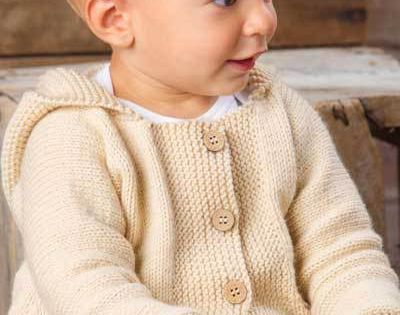 Knitting A Sweater For The First Time : Knitting pattern for happy cheer hooded baby cardigan