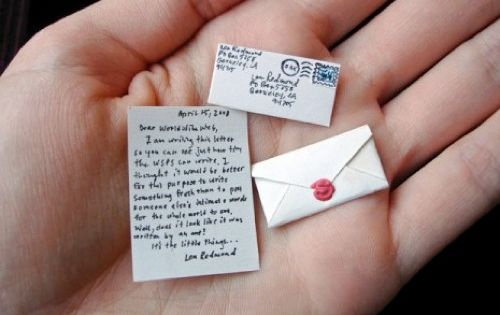 the tooth fairy leaves tiny notes for kids... :) super cute idea.