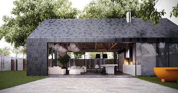 modern barn stye home makes perfect summer retreat in kiev hus terrass och house. Black Bedroom Furniture Sets. Home Design Ideas