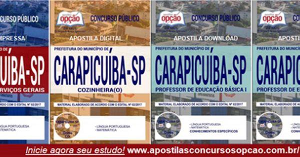 Apostilas Concurso Prefeitura De Carapicuiba Sp Atendente Com