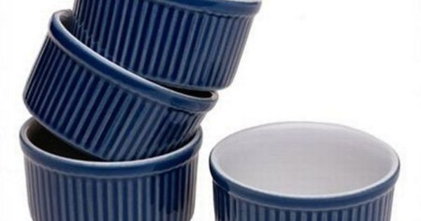 Emile Henry 4 Piece Set Of Ramekin Dishes Ramekins Ramekin Dishes Ceramic Set