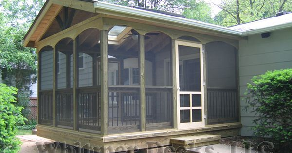 Screened porch mobile home ideas pinterest screened for Screened in porch ideas for mobile homes