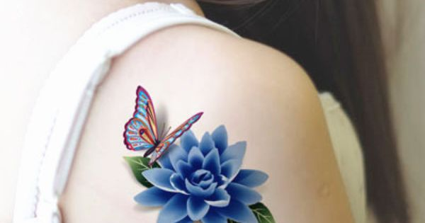 small blue lotus flower tattoo - Google Search ...