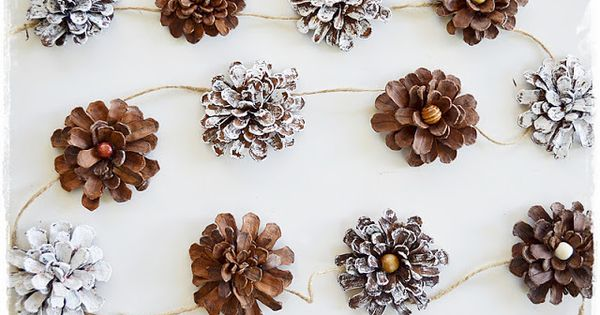 Pinecone garland - Dishfunctional Designs: Decorating & Crafting With Pine Cones