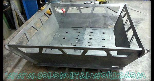 22 x22 modular fire pit 25 steel plate no welding for Prefab fire pit