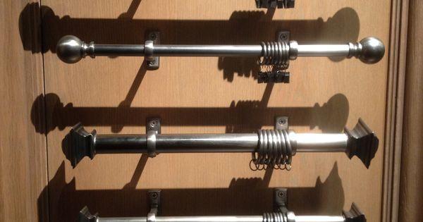 Curtain Rod Dark Metal Restoration Hardware Mid Century Modern Urban Chic British Explorer