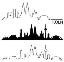 Vektor Skyline Koln Skyline Koln Stadtlandschaft Kunst Gutschein Basteln Bilderrahmen
