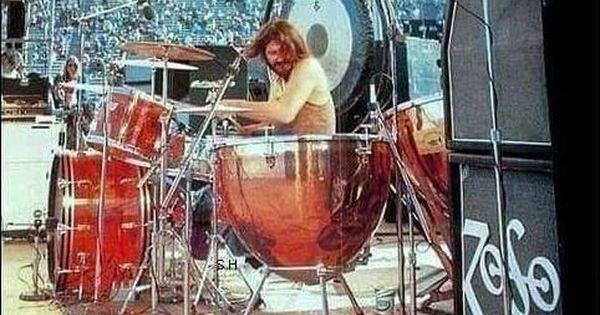John Bonham In Kezar Stadium San Francisco California June 2 1973 Led Zeppelin Zeppelin John Bonham
