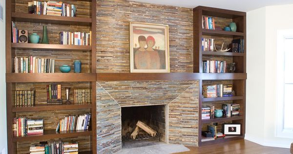 Fireplace Surrounds With Bookcases Built Entertainment Center Home Office Bh Woodworking E Pinterest Fireplaces