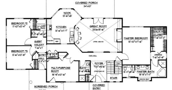 large open floor house plan chp lg 2621 ga sq ft large open floor home plan over 2600 square. Black Bedroom Furniture Sets. Home Design Ideas