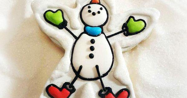 Snowman angel by Jill FCS. SO cute!   Cookies: Christmas ...
