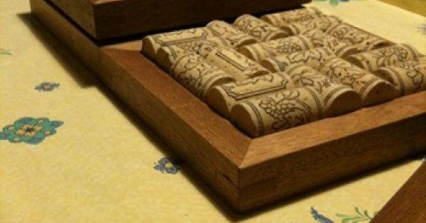 dessous de plat en bouchons de li ge par zeloko. Black Bedroom Furniture Sets. Home Design Ideas