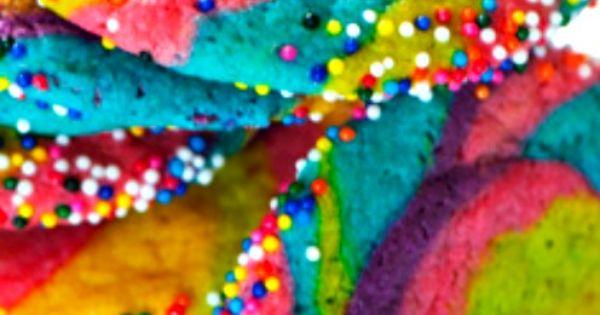 Rainbow Pinwheel Cookies ~ The super easy method behind these cookies takes