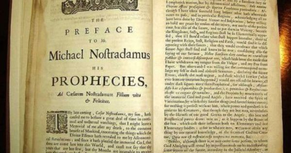 11 Shockingly Accurate Predictions From Nostradamus Nostradamus Predictions Prophecy Predictions