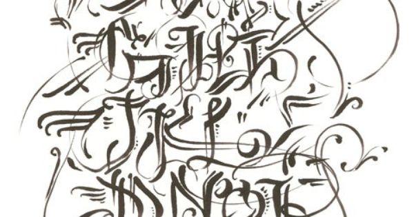 Graffiti Walls Graffiti Alphabet Calligraphy In Several