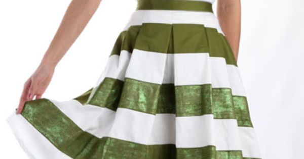 Lucky Stripes Shimmer Skirt tutorial