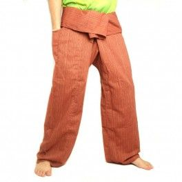 Cottonmix Extra Long Light Brown Fisherman Pants Thai Fisherman Pants Pants