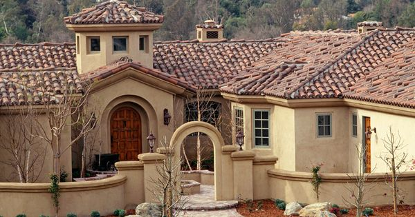Best Redland Clay Tile I Love How The Stucco Is A Wash Not 400 x 300
