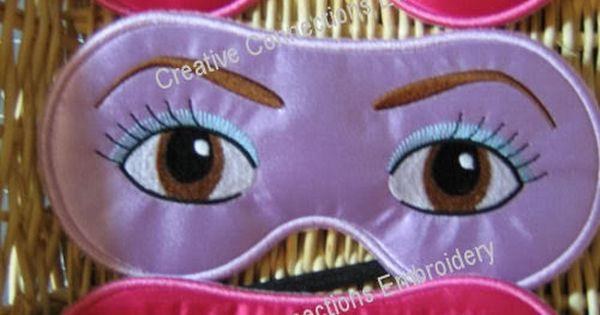 Silly Sleep Masks In The Hoop 5x7 Silly Sleep Masks In The