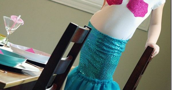 Mermaid Costume and party ideas. Love the colors!