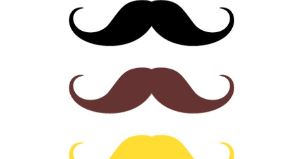 Printable Handlebar Mustache Photo Booth Prop Create Diy