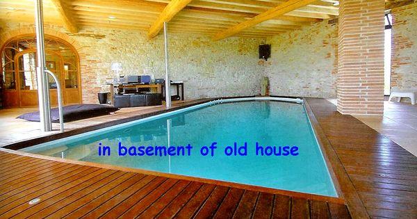Basement swimming pool conversion of a basement into a for Swimming pool conversion ideas