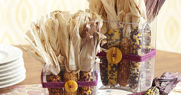 Easy Thanksgiving Table Decorations Make your holiday meal special with these seasonal