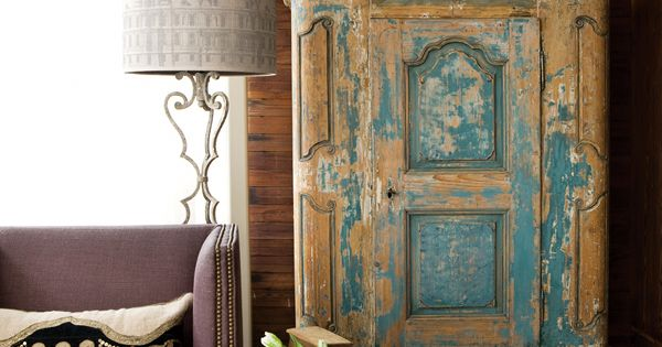 Barbara Westbrook's Atlanta Home beautiful weathered cabinet
