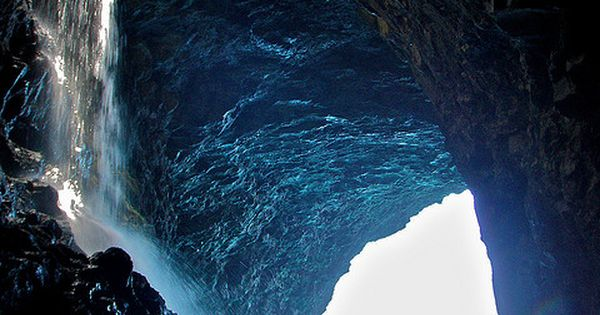 ♥Sea Cave Waterfall - Kauai, Hawaii ~This amazing sea cave called as