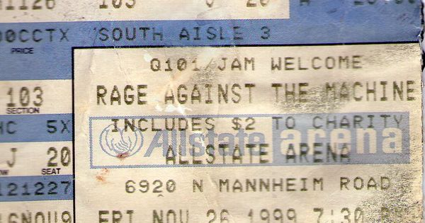 Rage Against The Machine - 1999 - Allstate Arena - Chicago ...