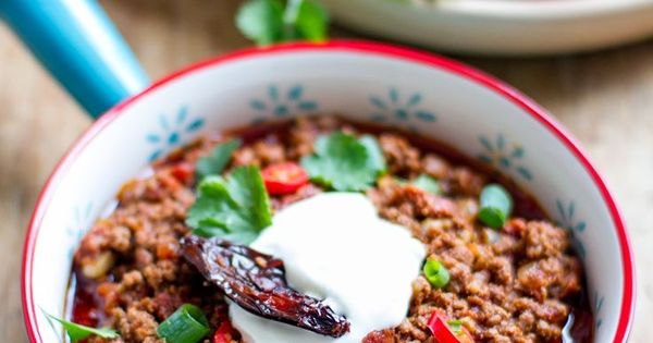 Chili Con Carne with Beef, Chorizo and Chipotle (Slow Cooker recipe ...