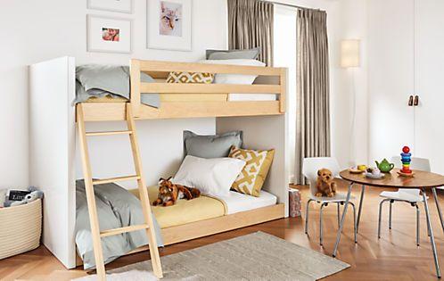 Moda Kids Wood Bunk Bed Modern Bunk Beds Loft Beds Modern Kids Furniture Modern Kids Furniture Modern Bunk Beds Bunk Beds