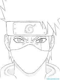Resultado De Imagen Para Bocetos De Dibujos Anime Kakashi Desenho Desenhos Para Colorir Naruto Arte Naruto