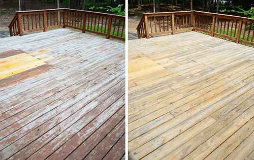wood deck cleaning and staining 2