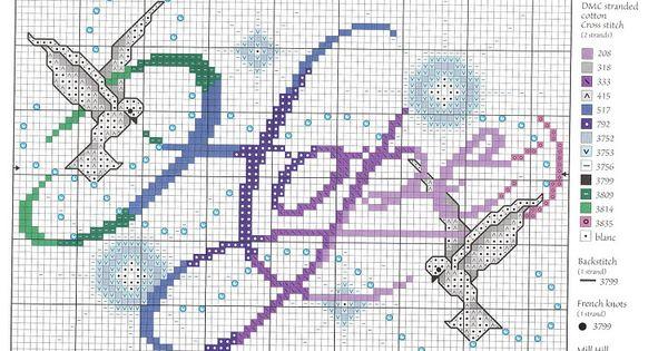 Free Hope Cross Stitch Chart.