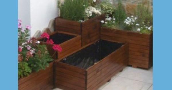 Fabricar jardineras de madera es muy f cil te lo - Como fabricar maceteros de madera ...