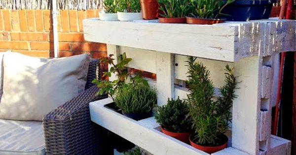 Cosas que puedes hacer con un palet especial terrazas - Construir y decorar casas ...